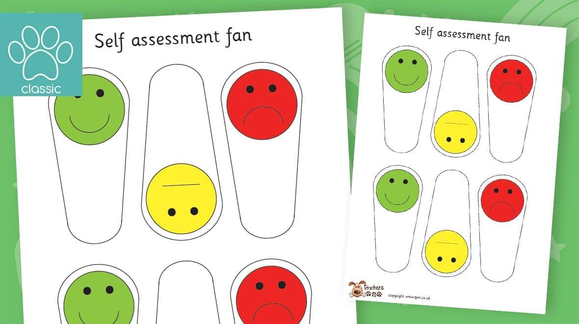 smiley face self assessment fans