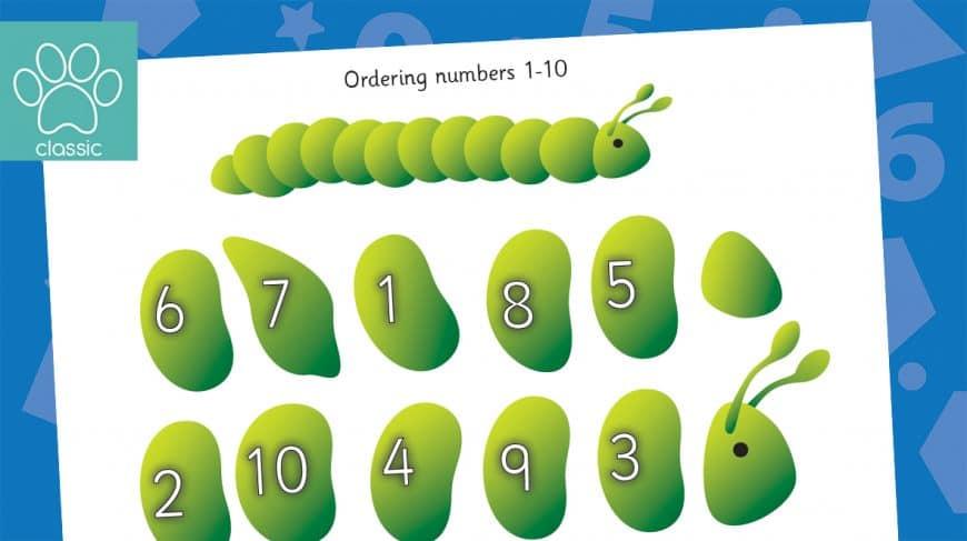 caterpillar number ordering to 10