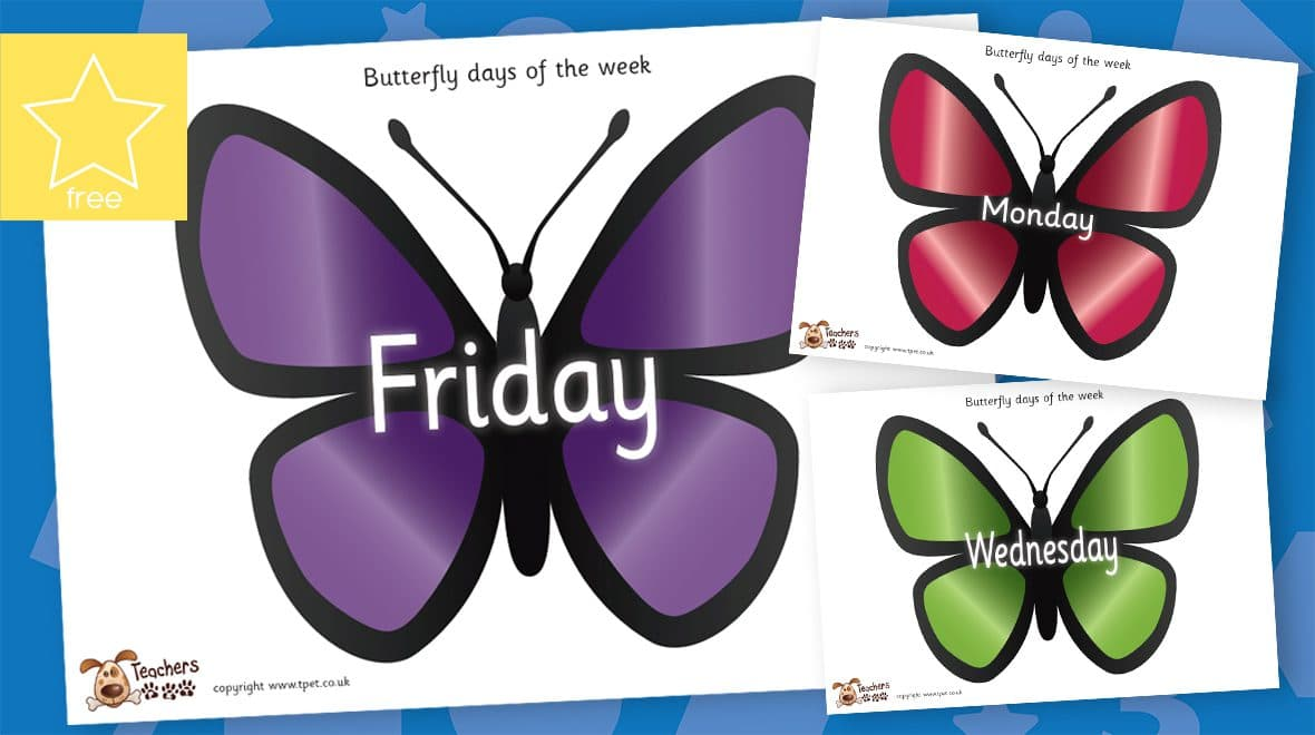 butterfly days of the week