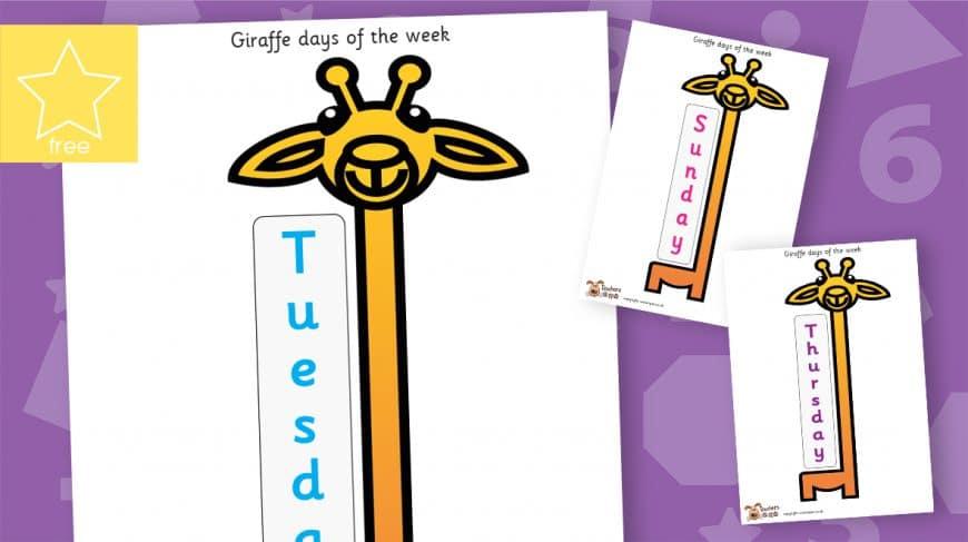 giraffe days of the week