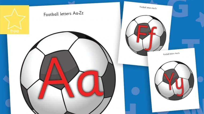football alphabet letters