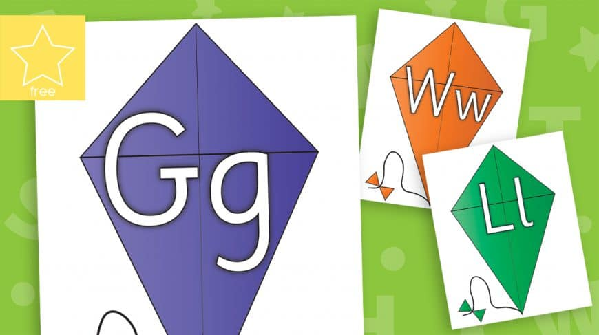 kite alphabet letters