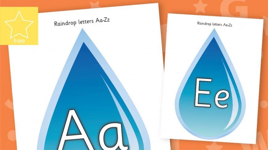 raindrop alphabet letters