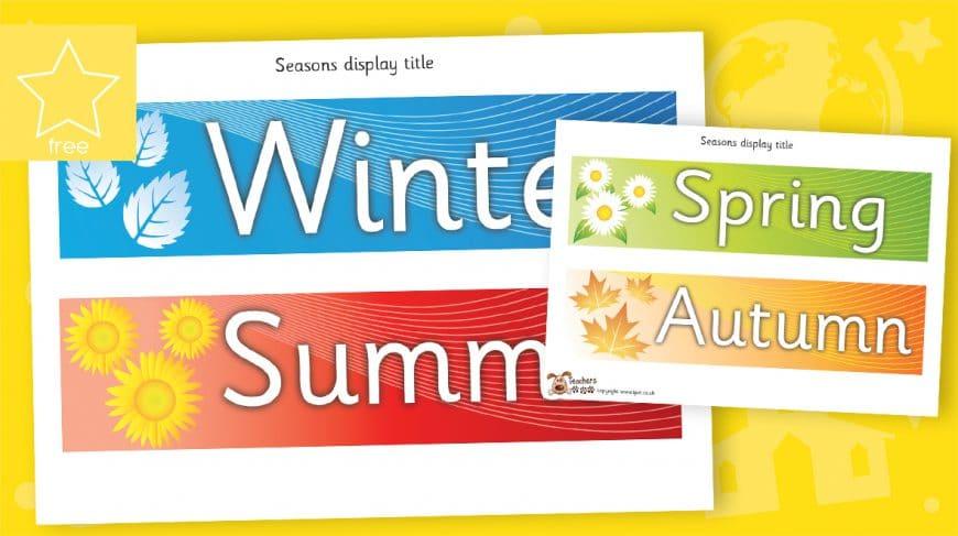 mini seasons classroom display banners