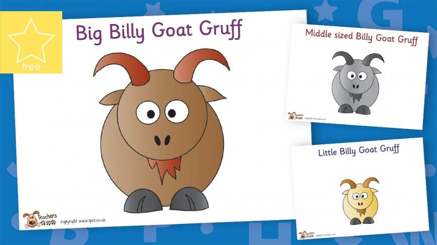 three billy goats gruff character posters