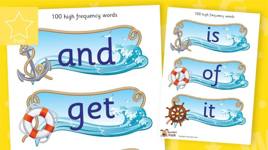 high frequency words pirate themed