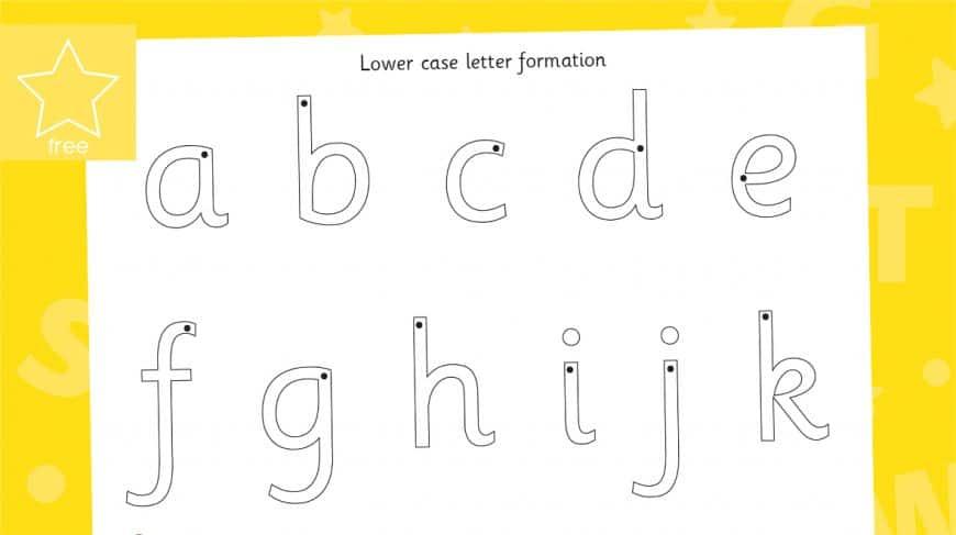 letter formation lower case mat