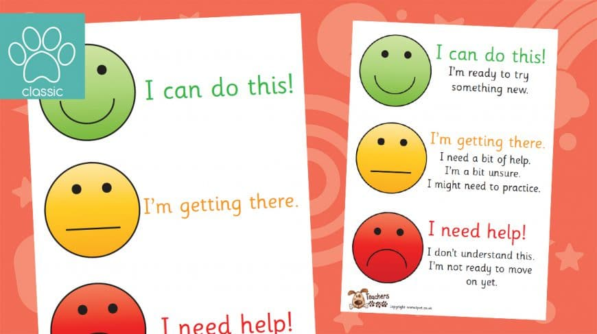 smiley face assessment posters
