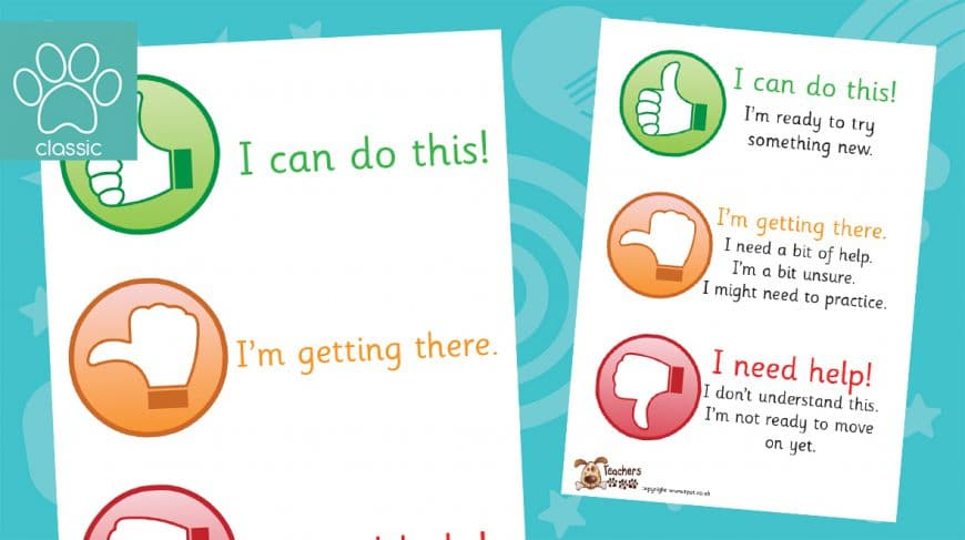 thumbs up assessment posters