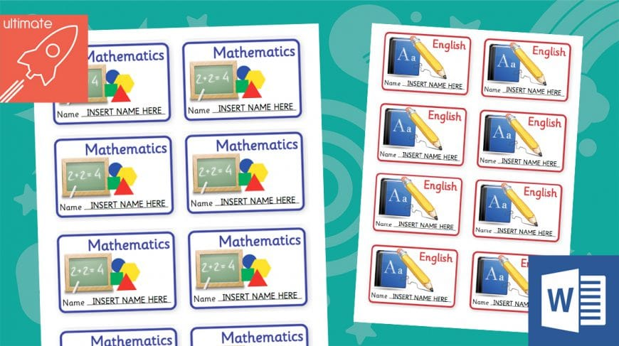 editable classroom book labels