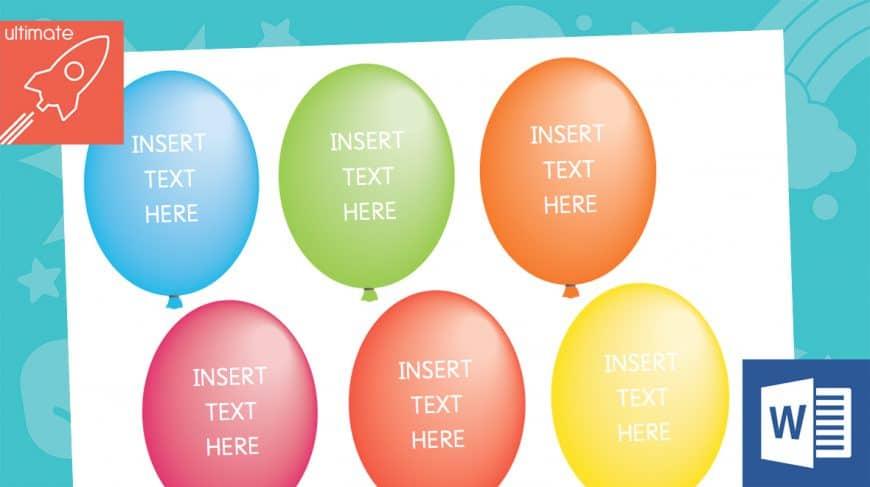 editable balloon labels