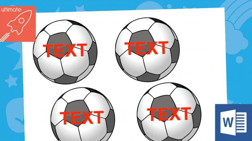 editable football labels