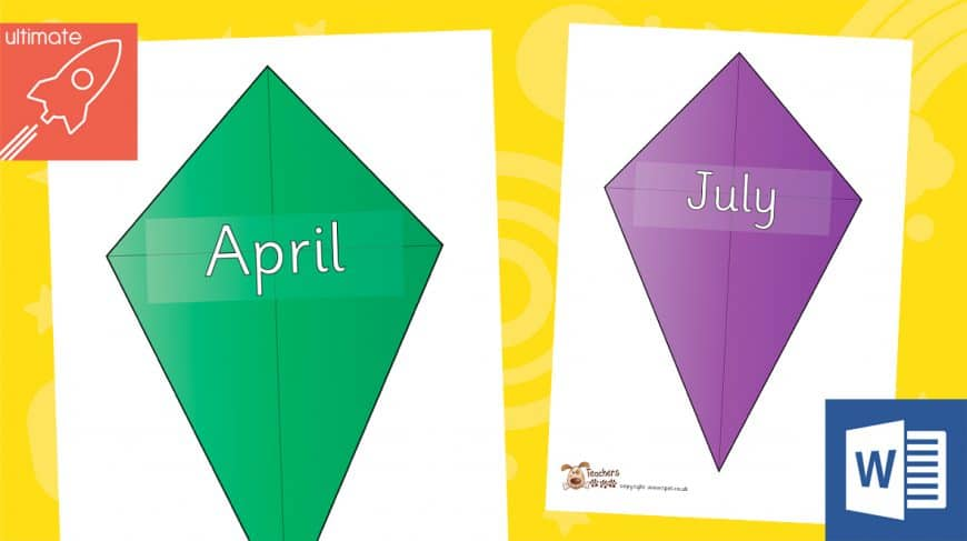 editable birthday kites