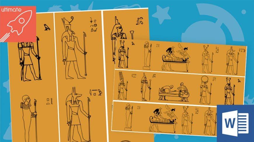 editable classroom display ancient egyptians borders