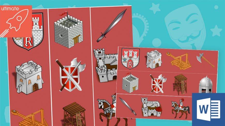editable classroom display castles borders