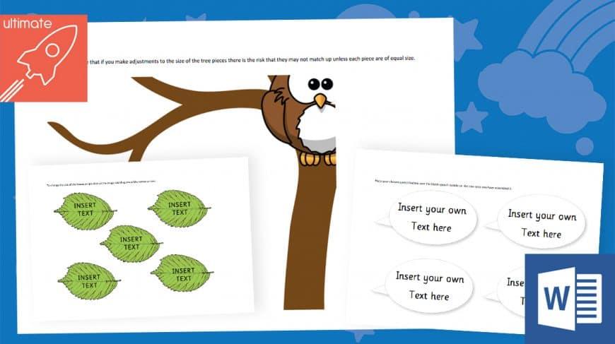 editable classroom display tree