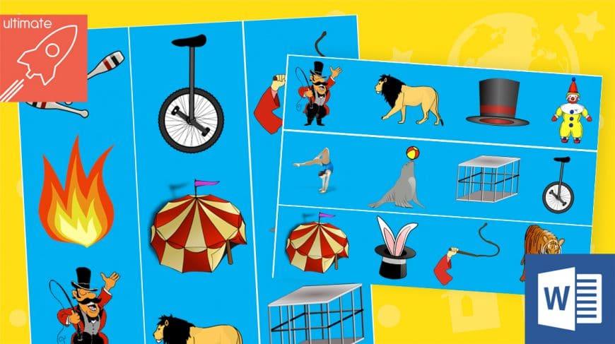 editable classroom display circus borders
