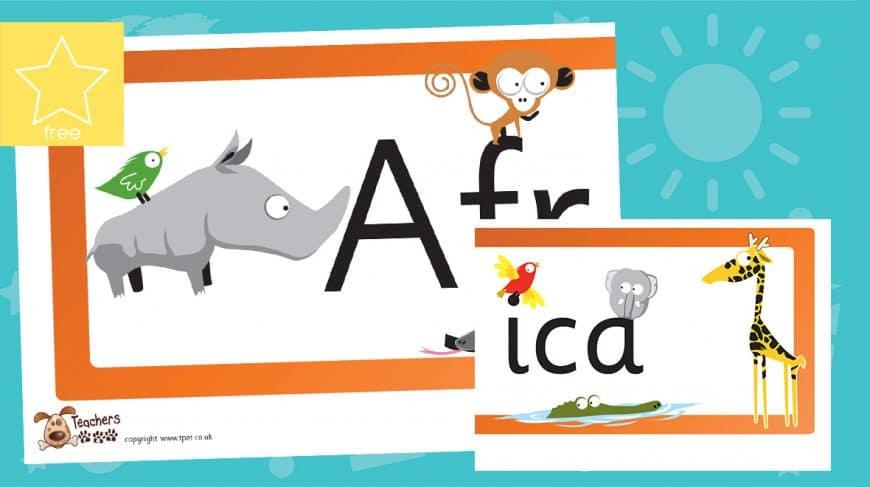 Africa Cartoon classroom banner