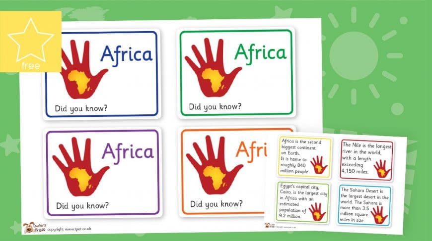 African fact cards