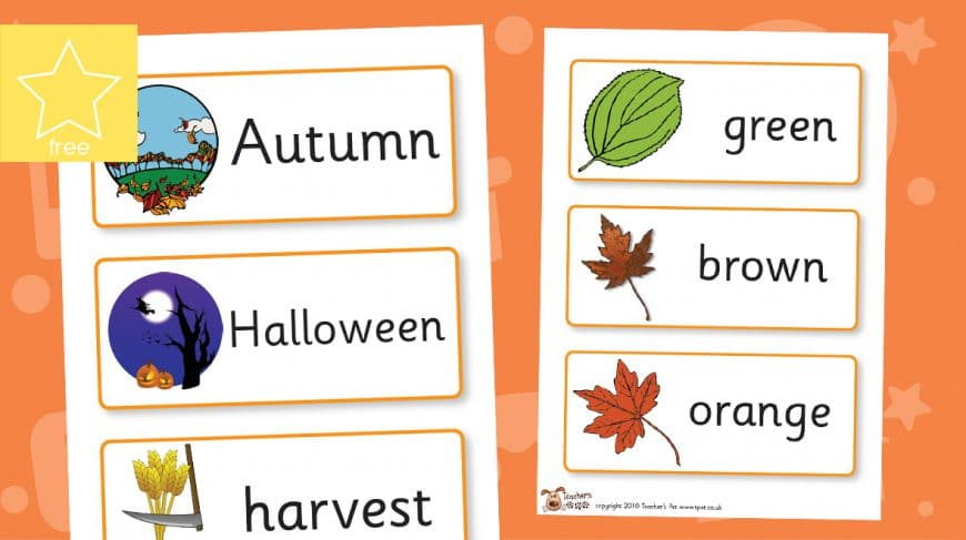 autumn labels