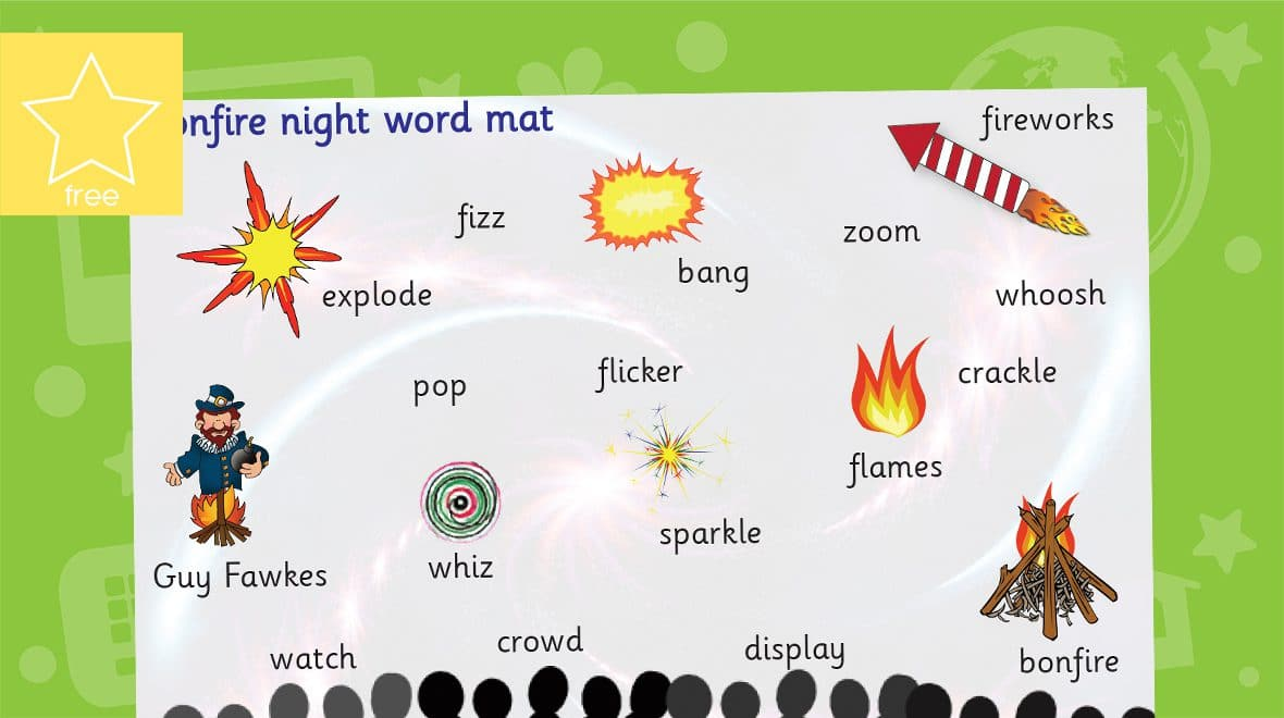 bonfire night word mat