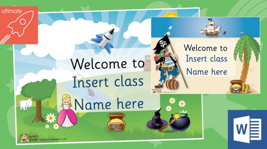 editable welcome classroom posters