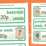 Garden Centre Seed Labels Role Play