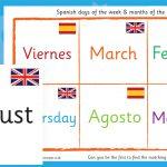 Spanish Days and Months Bingo