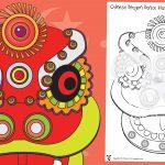 Chinese New Year – Dragon Masks BW