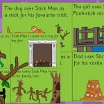Stick Man Story Sequencing Cards