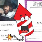 Guy Fawkes Wanted Poster Activity