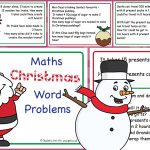 Editable Christmas Word Problems Challenge Cards