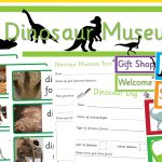 Dinosaur Dig and Museum Role-Play Pack