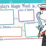 Today's Magic Word mat
