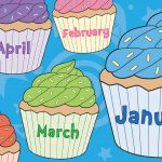 Months of the Year Birthday Cupcakes