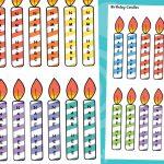 Editable Birthday Cupcake Candles