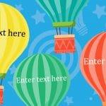 Editable Large Hot Air Balloons
