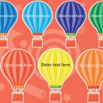 Editable Small Hot Air Balloons