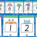 Monster Numbers to 20 Flash Cards