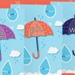 Phase 5 Pack 2 Umbrella Phonic Sound Posters