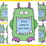 Editable Monster Signs and Labels