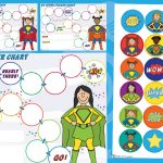 Superhero Sticker Charts and Stickers (Girls)
